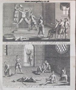 Dutch merchants (soldiers) waterboarding the shit out of British merchants (soldiers).